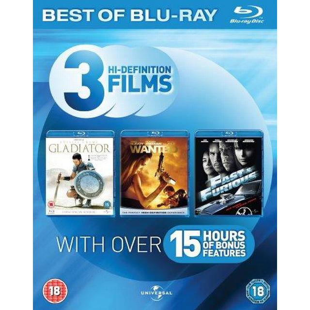 Blu-ray Starter Pack (Fast & Furious/Gladiator/Wanted)[Region Free]